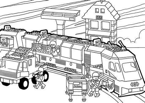 Ausmalbilder Lego Zug