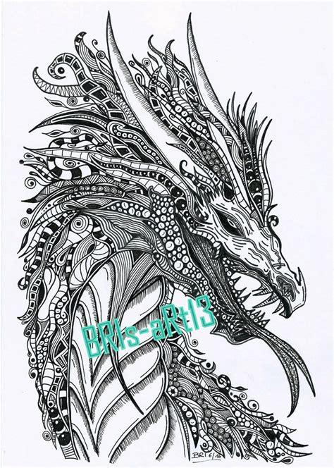 Ausmalbilder Mandalas Drachen