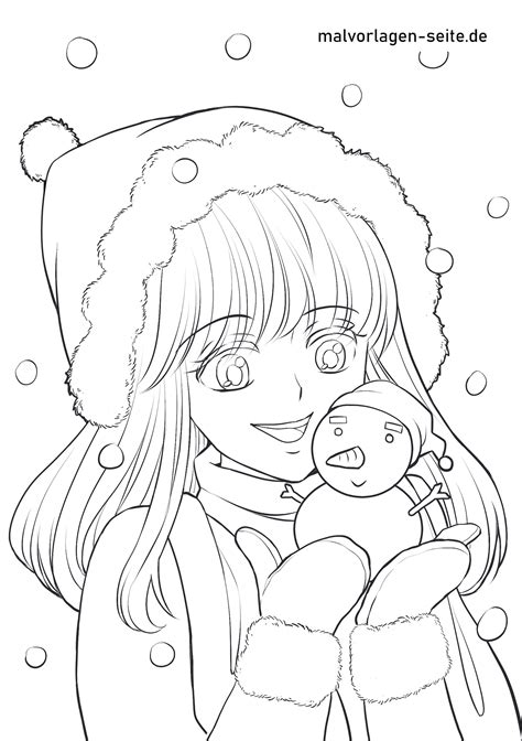 Ausmalbilder Manga Mädchen