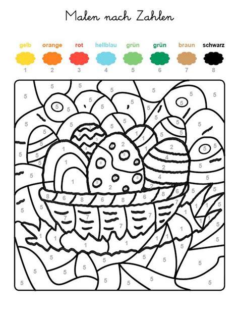 Ausmalbilder Mit Zahlen Und Farben