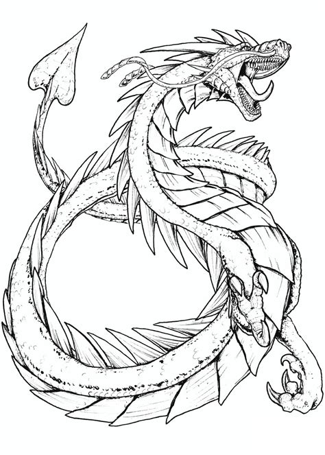 Ausmalbilder Monster Drachen