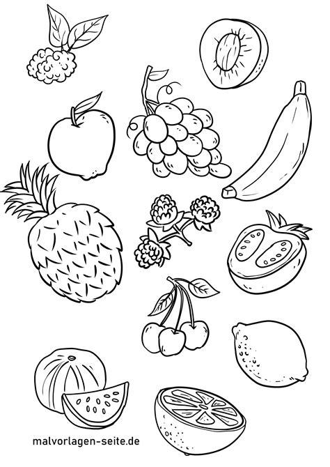 Ausmalbilder Obst Grundschule