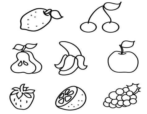 Ausmalbilder Obst Und Gemüse