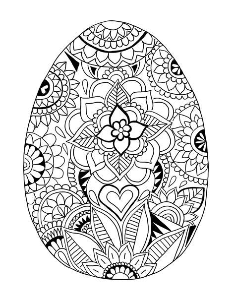 Ausmalbilder Ostereier Mandala