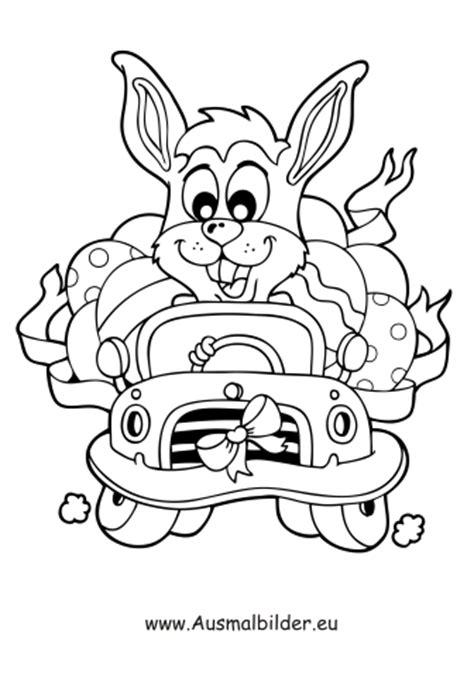 Ausmalbilder Osterhase Im Auto