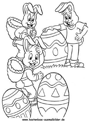 Ausmalbilder Osterhasen Familie