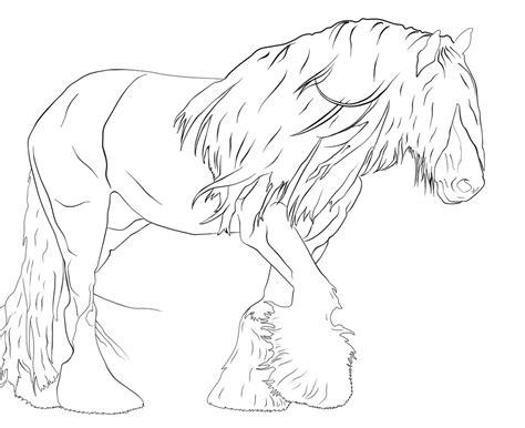 Ausmalbilder Pferde Shire Horse