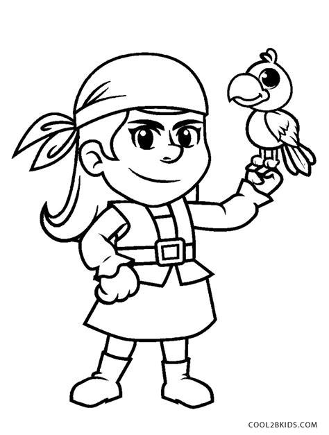 Ausmalbilder Piraten Mädchen