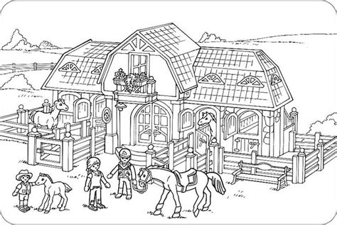 Ausmalbilder Playmobil Bauernhof