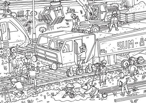 Ausmalbilder Playmobil Baustelle