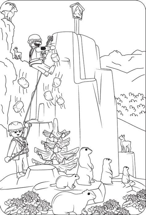 Ausmalbilder Playmobil Bergwelt