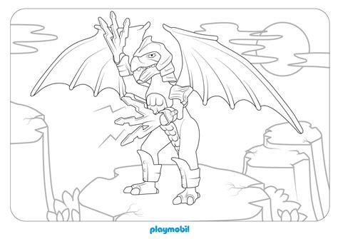 Ausmalbilder Playmobil Drachen