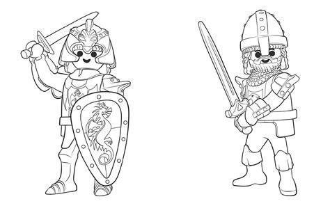 Ausmalbilder Playmobil Drachenritter