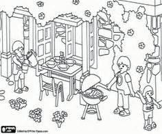 Ausmalbilder Playmobil Familie Vogel
