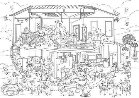 Ausmalbilder Playmobil Häuser