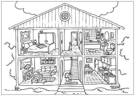 Ausmalbilder Playmobil Haus