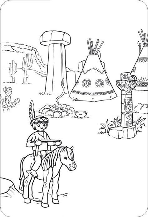 Ausmalbilder Playmobil Indianer