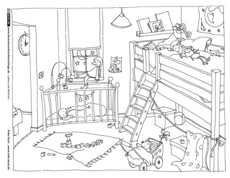 Ausmalbilder Playmobil Kinderzimmer
