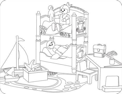 Ausmalbilder Playmobil Zimmer