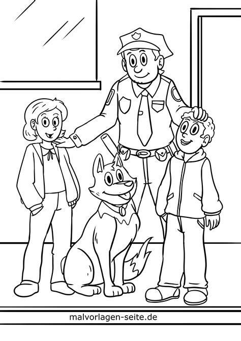 Ausmalbilder Polizei Mit Hund