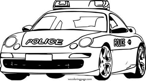 Ausmalbilder Polizei Porsche