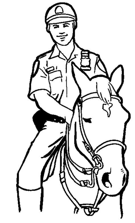 Ausmalbilder Polizeipferd