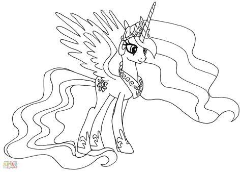 Ausmalbilder Pony Prinzessin