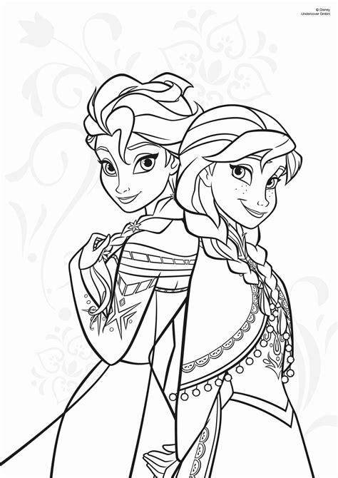 Ausmalbilder Prinzessin Anna Und Elsa
