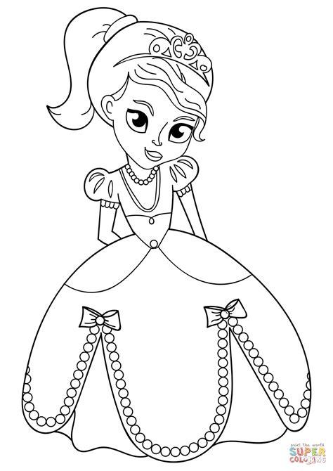 Ausmalbilder Prinzessin Baby