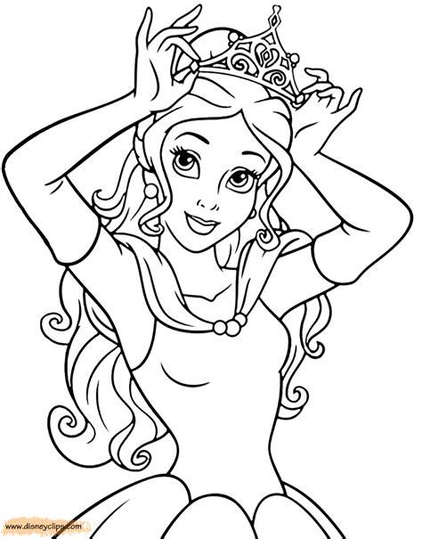Ausmalbilder Prinzessin Belle