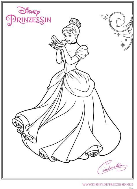 Ausmalbilder Prinzessin Cinderella