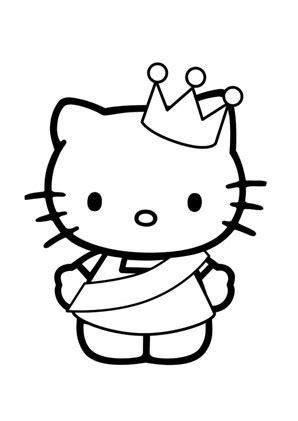 Ausmalbilder Prinzessin Hello Kitty