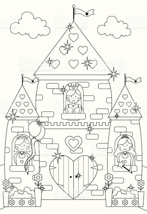 Ausmalbilder Prinzessin Im Schloss