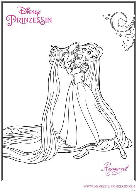 Ausmalbilder Prinzessin Rapunzel