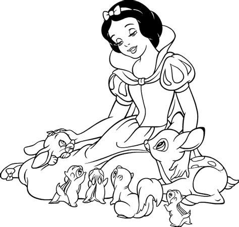 Ausmalbilder Prinzessin Schneewittchen