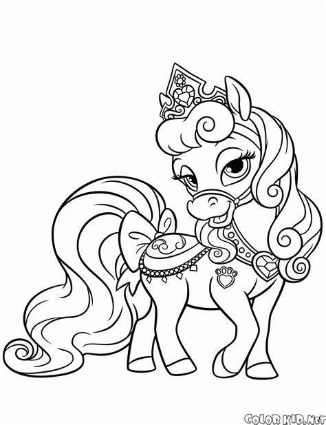 Ausmalbilder Prinzessin Tiere