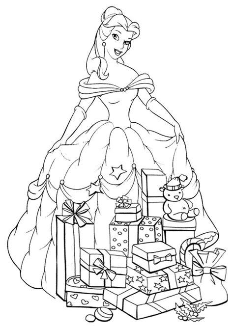 Ausmalbilder Prinzessin Weihnachten
