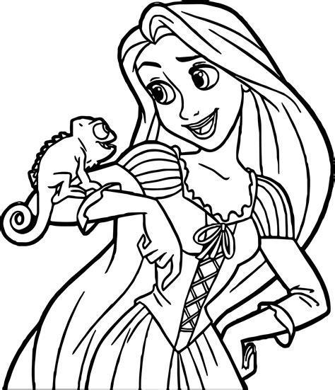 Ausmalbilder Rapunzel Drucken