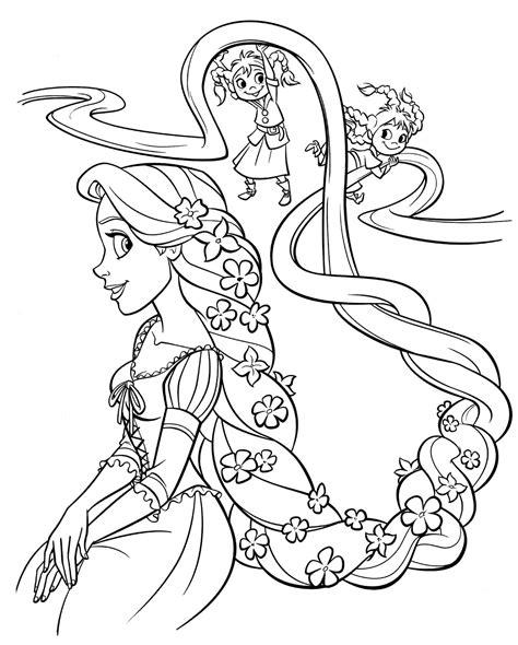 Ausmalbilder Rapunzel Malvorlagen Classic