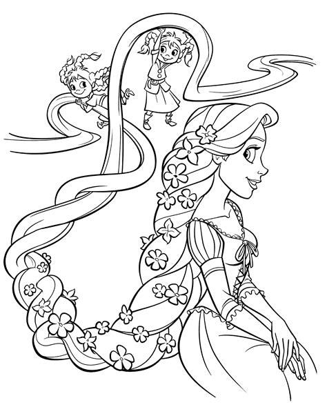Ausmalbilder Rapunzel Malvorlagen Gratis