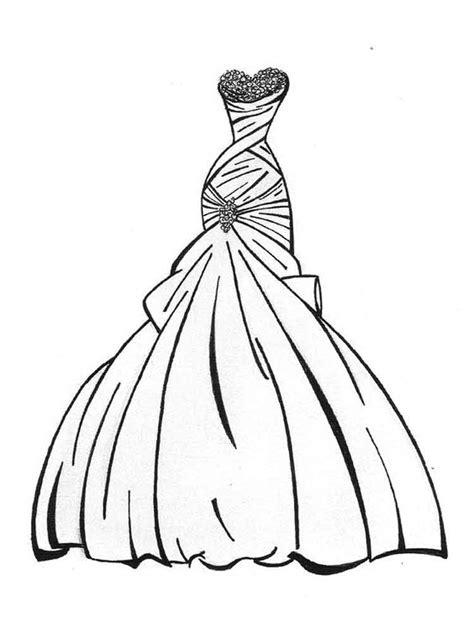 Ausmalbilder Schöne Kleider