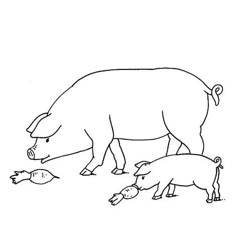 Ausmalbilder Schweine Bauernhof