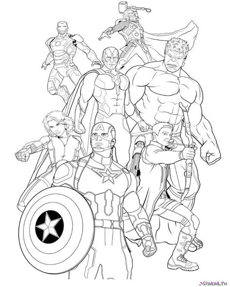 Ausmalbilder Superhelden Marvel