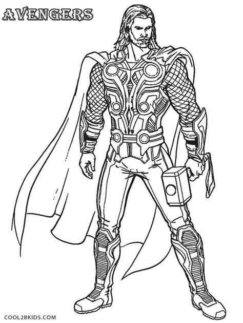 Ausmalbilder Superhelden Thor