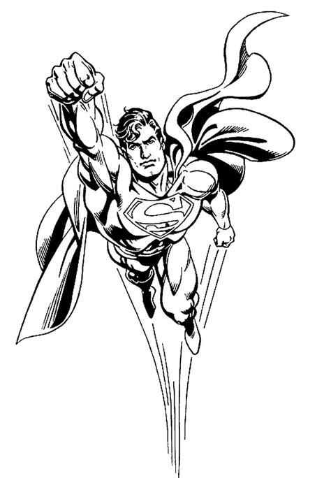 Ausmalbilder Superman Drucken