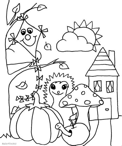 Ausmalbilder Thema Herbst