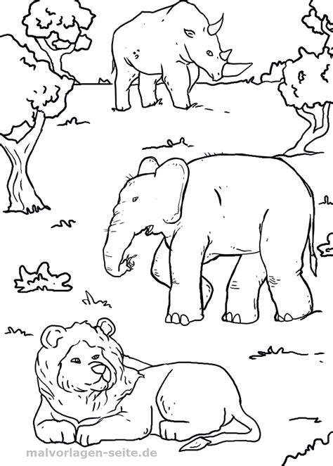 Ausmalbilder Tiere Afrika