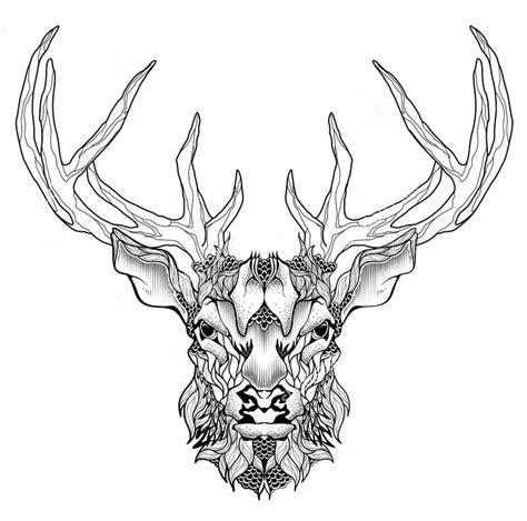 Ausmalbilder Tiere Hirsch