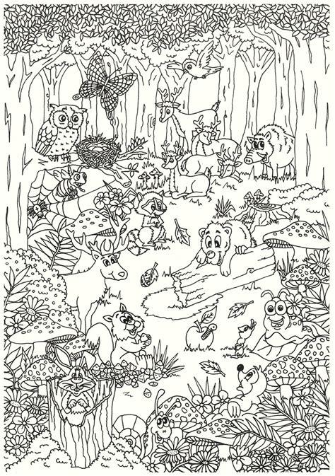 Ausmalbilder Tiere Im Wald Zum Ausdrucken
