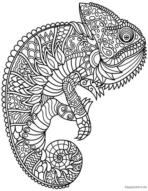 Ausmalbilder Tiere Mandala